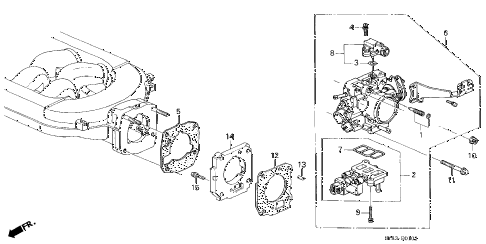 1997 CL PRE3.0 2 DOOR 4AT THROTTLE BODY (3) diagram