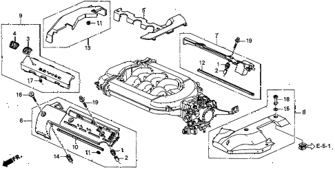 1997 CL PRE3.0 2 DOOR 4AT INTAKE MANIFOLD COVER diagram