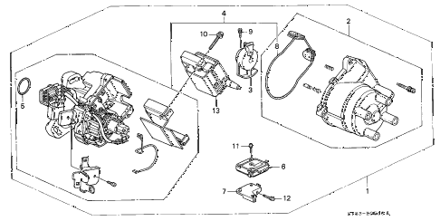 1997 CL PRE2.2 2 DOOR 5MT DISTRIBUTOR (HITACHI) (1) diagram
