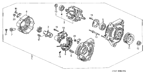 1997 CL PRE2.2 2 DOOR 5MT ALTERNATOR (DENSO) (1) diagram