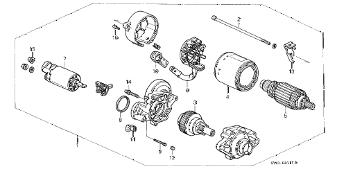 1998 CL PRE2.3 2 DOOR 4AT AT STARTER MOTOR (2) diagram