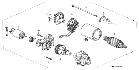 1998 CL BAS3.0 2 DOOR 4AT STARTER MOTOR (3) diagram