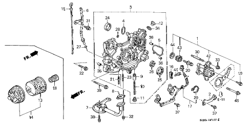 1998 CL BAS2.3 2 DOOR 4AT OIL PUMP - OIL STRAINER (1) diagram