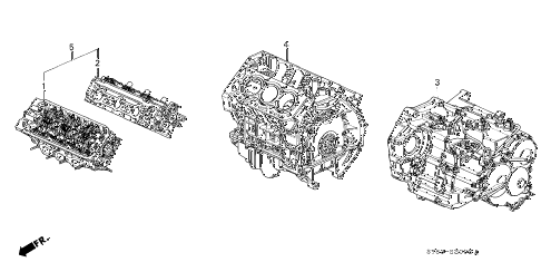 1998 CL BAS3.0 2 DOOR 4AT ENGINE ASSY. - TRANSMISSION ASSY. diagram