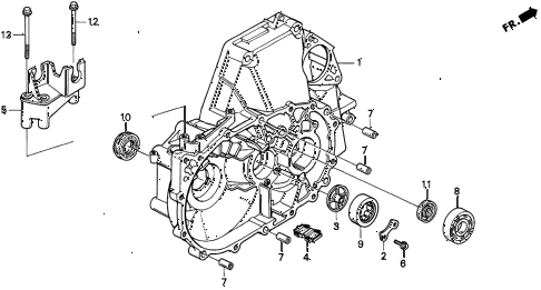 1997 CL BAS2.2 2 DOOR 5MT MT CLUTCH HOUSING diagram