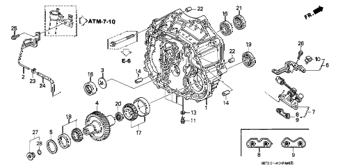 1998 RL BASE 4 DOOR 4AT AT TORQUE CONVERTER HOUSING diagram