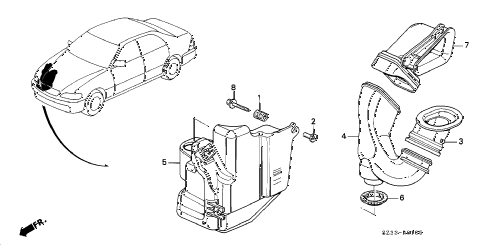 1999 RL 4 DOOR 4AT RESONATOR CHAMBER diagram