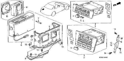 1998 RL PREM 4 DOOR 4AT AUTO RADIO diagram
