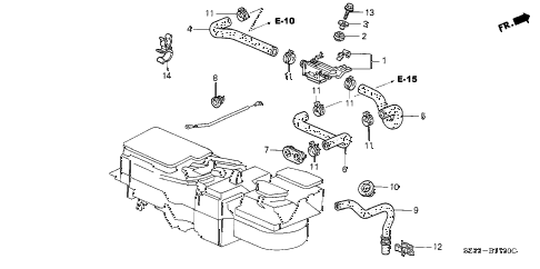 2002 RL 4 DOOR 4AT WATER VALVE diagram