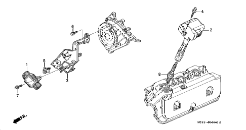 2002 RL 4 DOOR 4AT IGNITION COIL - IGNITER diagram