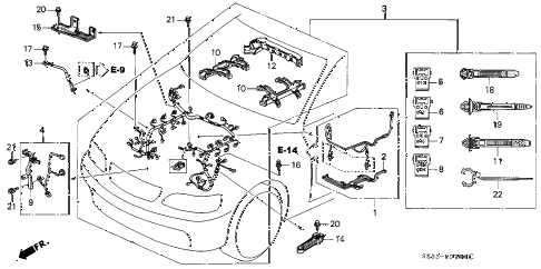 1999 RL 4 DOOR 4AT ENGINE WIRE HARNESS diagram