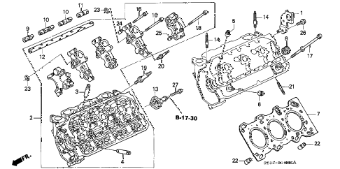 1999 RL 4 DOOR 4AT CYLINDER HEAD (L.) diagram
