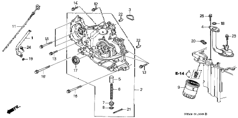 1998 RL BASE 4 DOOR 4AT OIL PUMP - OIL STRAINER diagram