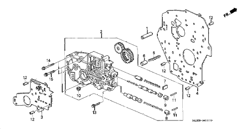 2004 RL 4 DOOR 4AT OIL PUMP BODY diagram
