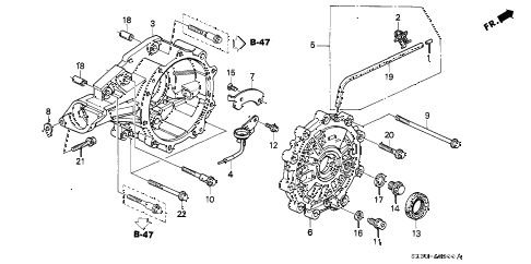 2004 RL 4 DOOR 4AT DIFFERENTIAL CARRIER diagram