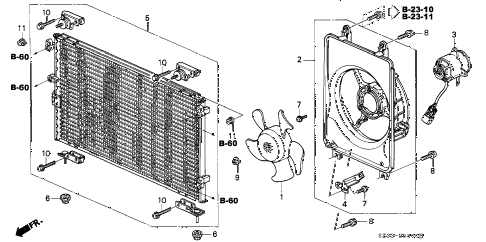 2004 RL 4 DOOR 4AT A/C AIR CONDITIONER (CONDENSER) diagram
