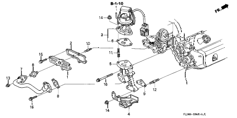 2004 RL 4 DOOR 4AT EGR VALVE diagram