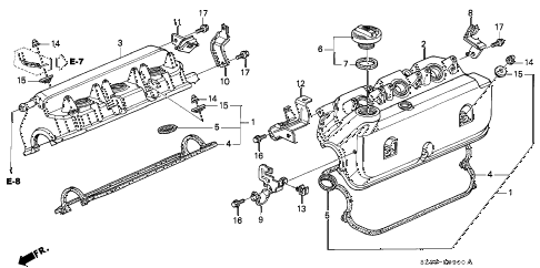 2004 RL 4 DOOR 4AT CYLINDER HEAD COVER diagram