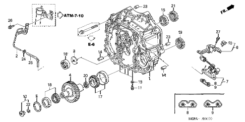 2004 RL 4 DOOR 4AT TORQUE CONVERTER CASE diagram