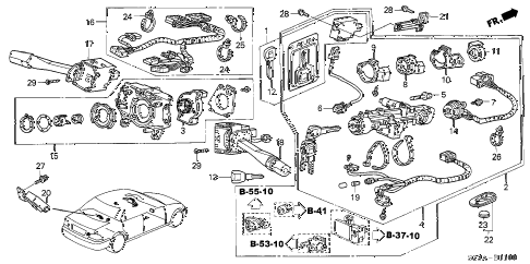 2004 RL 4 DOOR 4AT COMBINATION SWITCH diagram