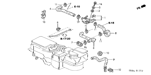2004 RL 4 DOOR 4AT WATER VALVE diagram