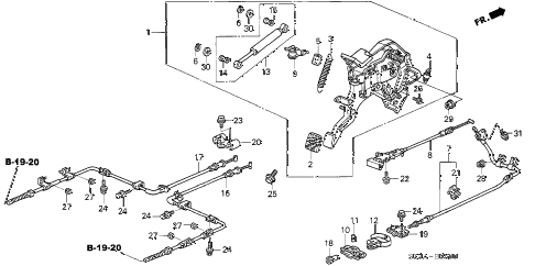 2004 RL 4 DOOR 4AT PARKING BRAKE diagram