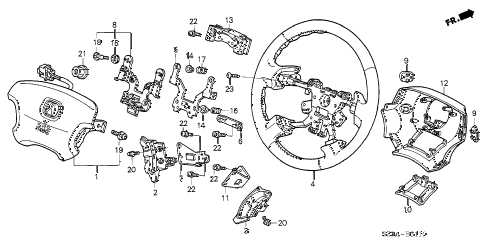2004 RL 4 DOOR 4AT STEERING WHEEL (SRS) diagram