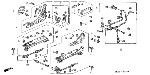 2004 RL 4 DOOR 4AT FRONT SEAT COMPONENTS (R.) diagram