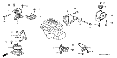 BN8F501T1A together with EF9139020 together with Honda Pilot Acura Repair Shop Manual further  on diagram of mazda 3 2006 motor mount engine html