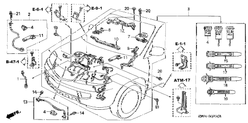 Jaguar Wiring Harness additionally P 0900c15280076a5a additionally Obd0 To Obd1 Wiring Diagram moreover Acura Legend Fuse Box Diagram furthermore C3 Corvette Rear Body. on acura rsx engine diagram