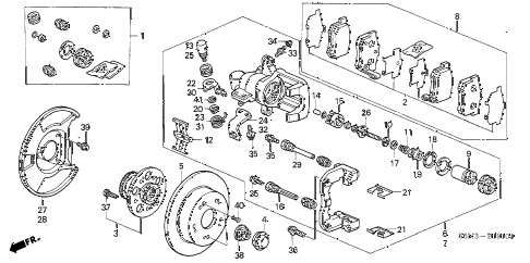 2005 RSX BASE 3 DOOR 5MT REAR BRAKE diagram