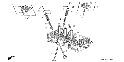 2004 RSX TYPE-S 3 DOOR 6MT VALVE - ROCKER ARM (TYPE-S) diagram