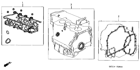 2005 RSX BASE 3 DOOR 5AT GASKET KIT diagram