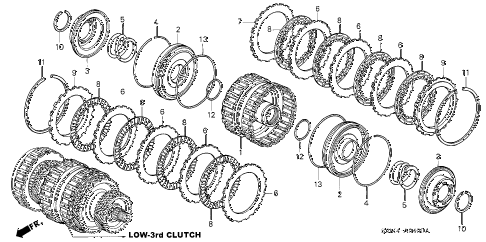 2004 RSX BASE 3 DOOR 5AT AT CLUTCH (LOW-THIRD) diagram