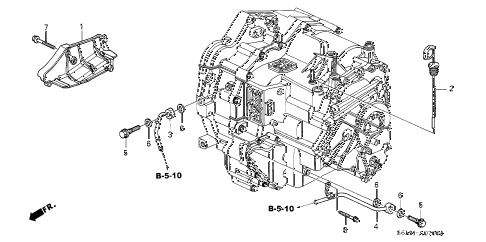 2002 RSX BASE 3 DOOR 5AT AT ATF PIPE diagram