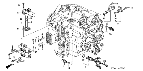 2005 RSX BASE 3 DOOR 5AT AT SOLENOID diagram