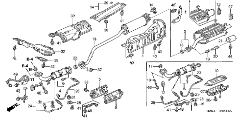 2002 RSX BASE 3 DOOR 5MT EXHAUST PIPE - MUFFLER diagram