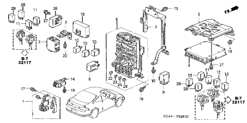 2005 RSX TYPE-S 3 DOOR 6MT CONTROL UNIT (CABIN) diagram