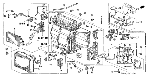 2003 RSX TYPE-S 3 DOOR 6MT HEATER UNIT diagram