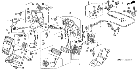 2002 RSX TYPE-S 3 DOOR 6MT PEDAL diagram