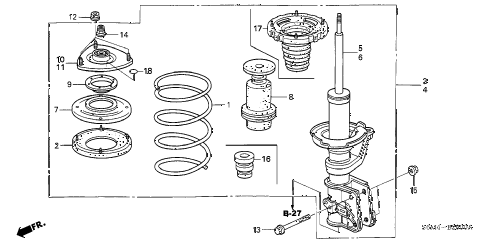 2004 RSX TYPE-S 3 DOOR 6MT FRONT SHOCK ABSORBER diagram