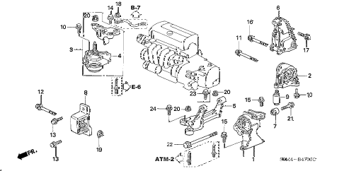 Acura online store 2002 rsx engine mounts at parts – Rsx Engine Diagram