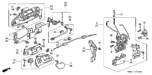 2004 RSX TYPE-S 3 DOOR 6MT DOOR LOCKS - OUTER HANDLE diagram