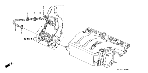 2003 RSX TYPE-S 3 DOOR 6MT BREATHER TUBE (TYPE-S) diagram