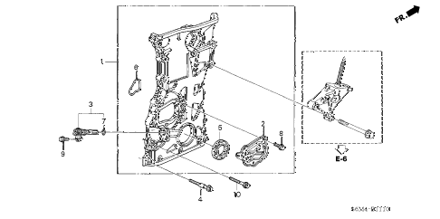 2005 RSX TYPE-S 3 DOOR 6MT CHAIN CASE diagram