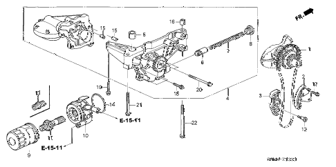 2002 RSX BASE 3 DOOR 5MT OIL PUMP - OIL STRAINER diagram
