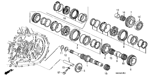 2002 RSX TYPE-S 3 DOOR 6MT MT MAINSHAFT (6MT) diagram
