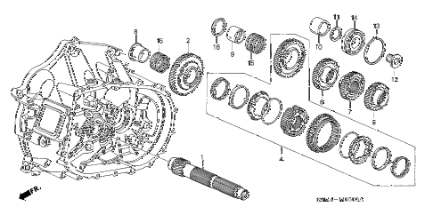 2004 RSX BASE 3 DOOR 5MT MT COUNTERSHAFT (5MT) diagram