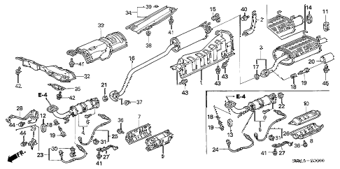 2006 RSX TYPE-S 3 DOOR 6MT EXHAUST PIPE - MUFFLER diagram