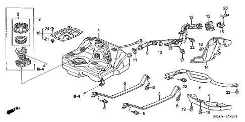 2006 RSX TYPE-S 3 DOOR 6MT FUEL TANK diagram